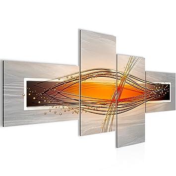 Runa Art Bilder Abstrakt Wandbild 200 x 100 cm Vlies - Leinwand Bild ...