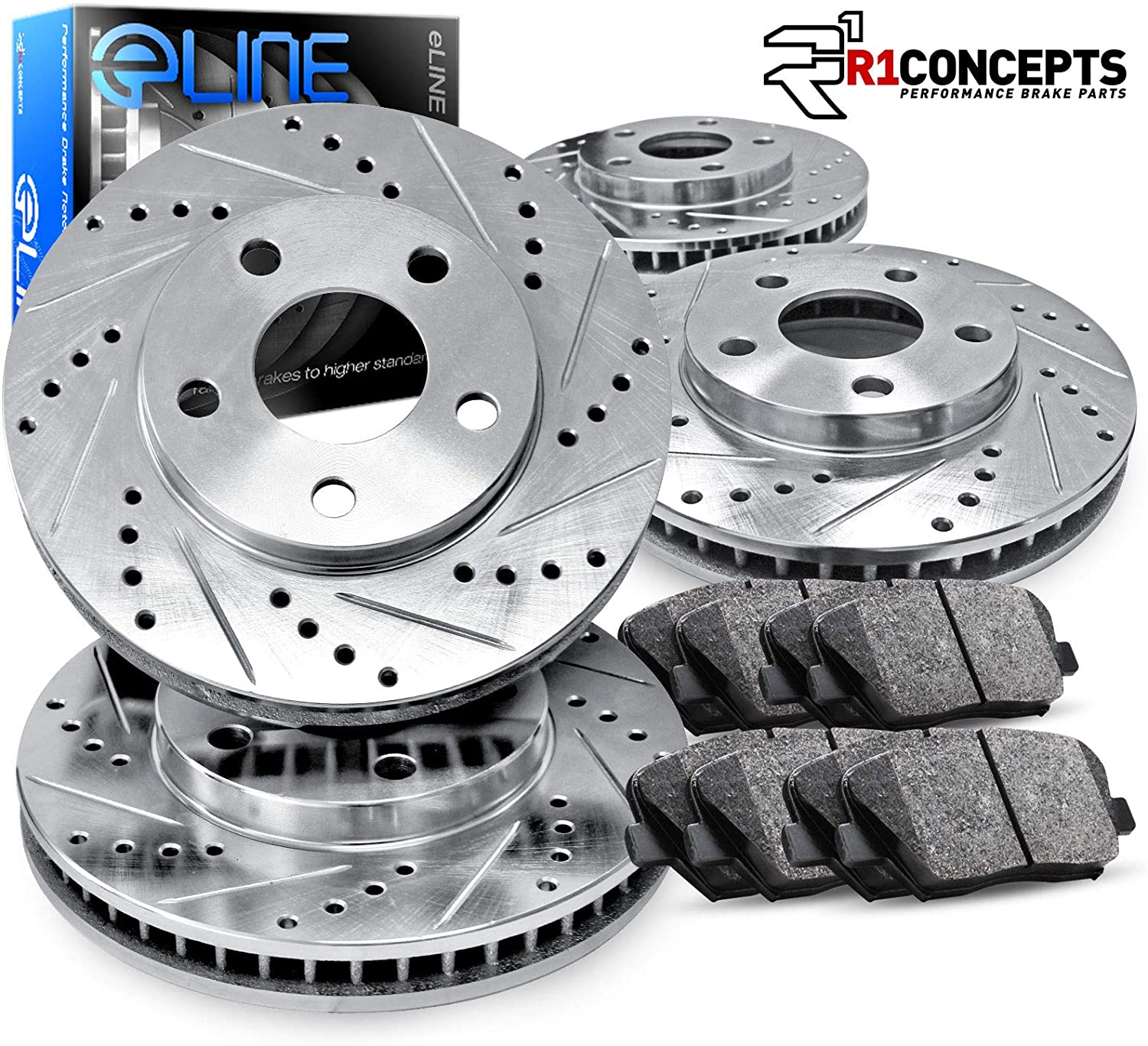 Jeep Wrangler Rear Brake Rotors + Ceramic Pads
