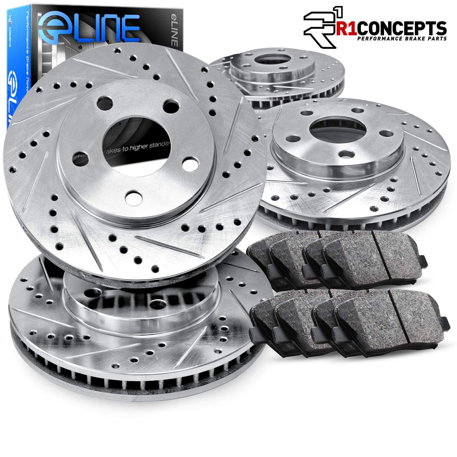 Front Brake Discs Rotors and Ceramic Pads For 2007-2011 Dodge Nitro Drill Slot