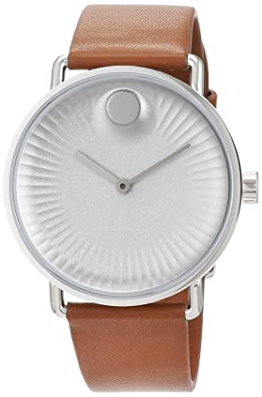 490b33279 Movado Mens Analogue Classic Quartz Watch with Leather Strap 3680038:  Amazon.co.uk: Watches