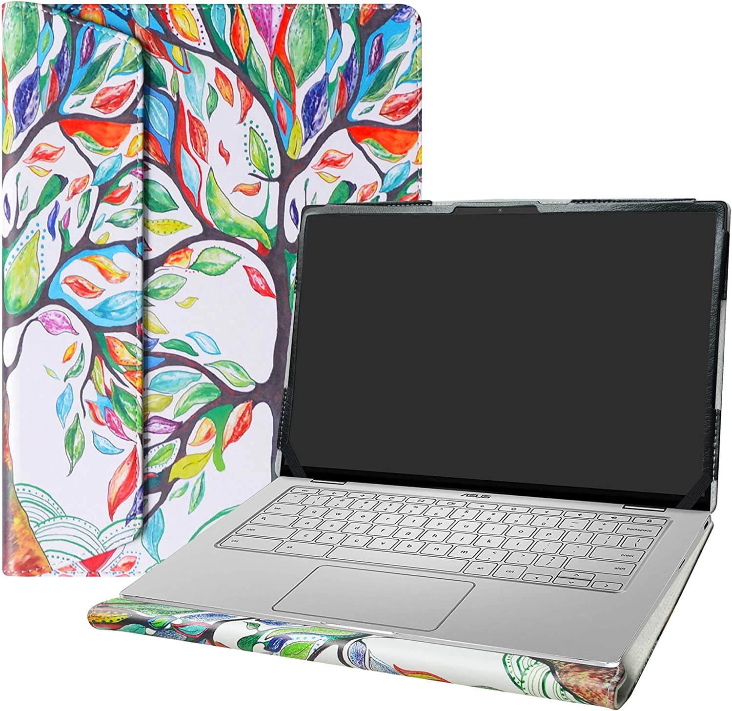 """Alapmk Protective Case Cover for 14"""" ASUS Chromebook Flip C434 C434TA/ASUS Chromebook C403NA Series Laptop(Warning:Not fit ASUS Chromebook C423NA),Love Tree"""