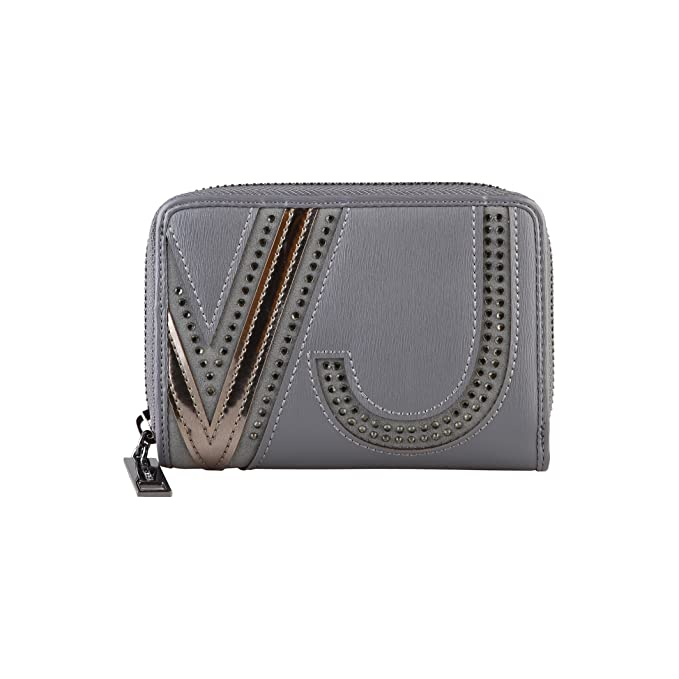 Versace Jeans - Cartera/Billetera piel sintética con logotipo fashion mujer señora (Talla Única
