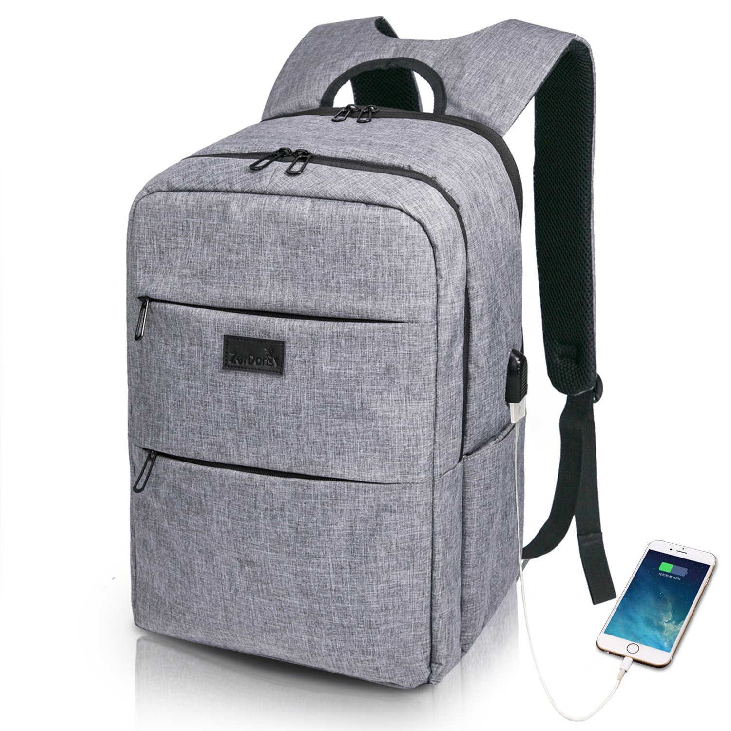 Laptop Backpack Travel Anti Theft Business Backpack for Men & Women, Lightweight Water Resistant Computer Bag College School Bookbag with USB Charging Port, Fits Under 17 Inch Laptop Notebook
