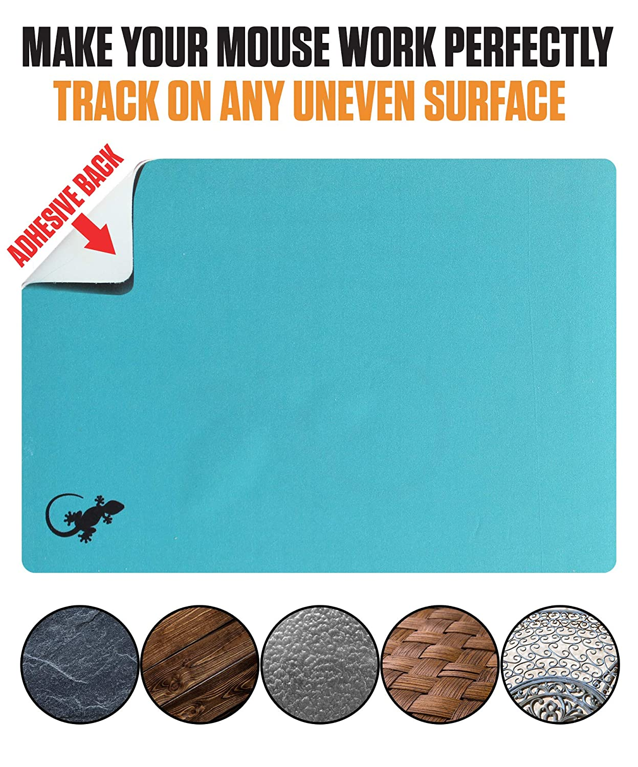 Webcam Covers and Screen Cleaner Included Portable Gray Sticks to Any Surface Mouse Pad Adhesive Bottom