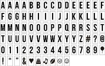 Letras lightbox A4 - Letras para caja de luz A4: Amazon.es ...
