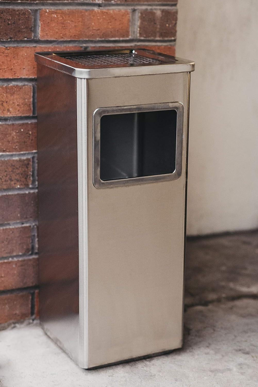 acero inoxidable Premier Home/® Cenicero de metal de alta calidad