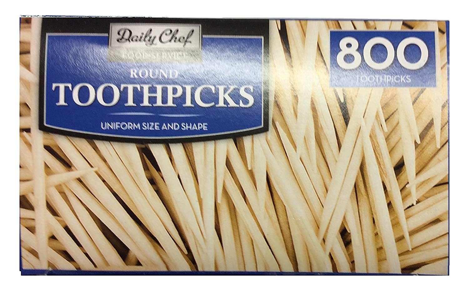 Bakers & Chefs Round Toothpicks, 4 per 800 Count CF2051
