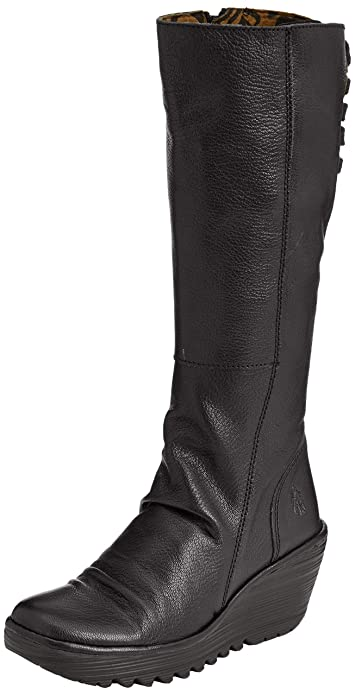 c9a5ca4b Fly London Yust, Women's Knee Boots, Black (Black 029), 2.5 UK