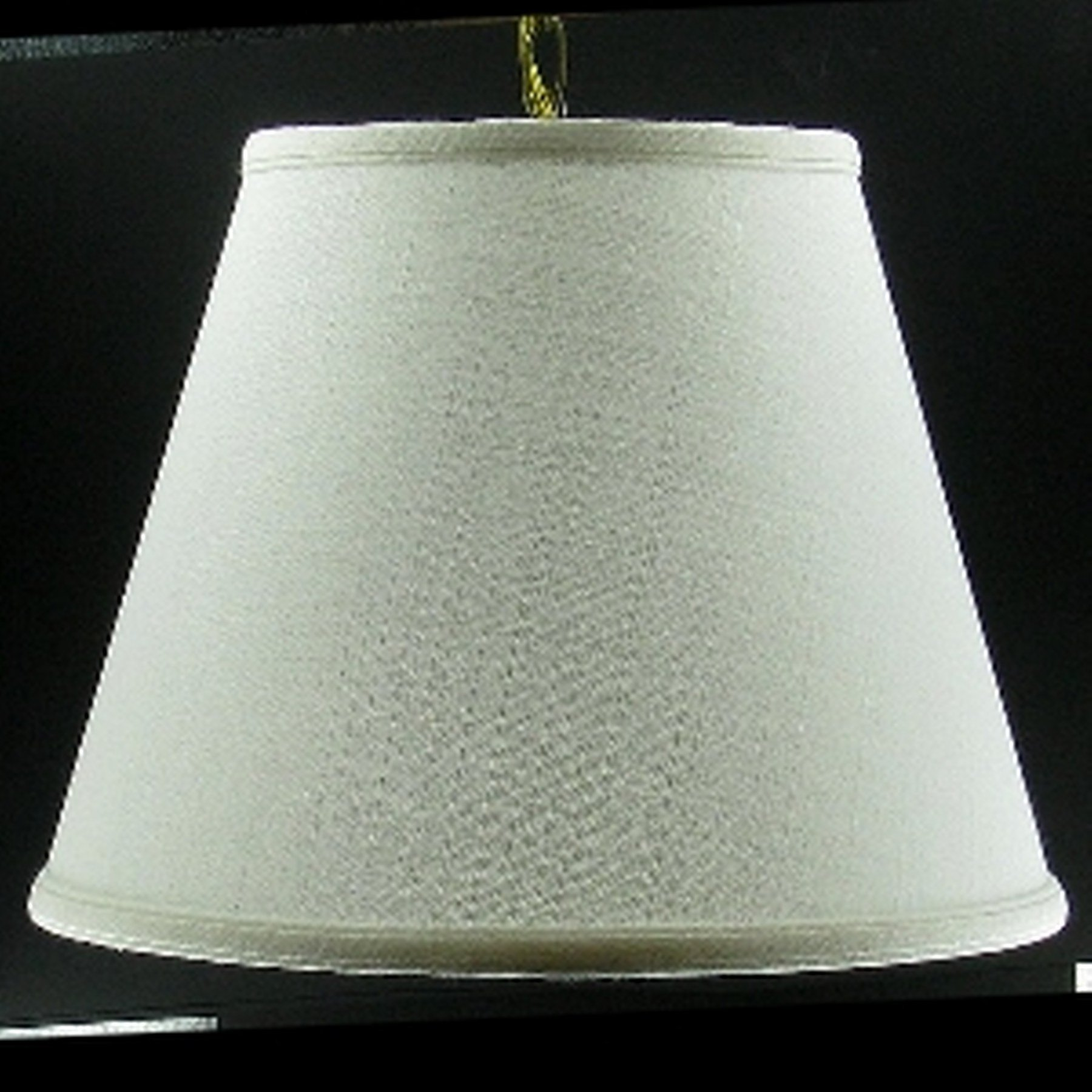 Upgradelights Swag Lamp Antiqued Brass Swag Kit 16'' Off White Linen Shade