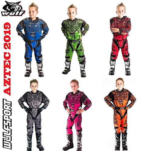 551f1a4cdc6fcd Bambini Tuta Motocross ~ WULFSPORT FIRESTORM Bambini tuta moto Maglia  Pantaloni off-road Quad Jersey