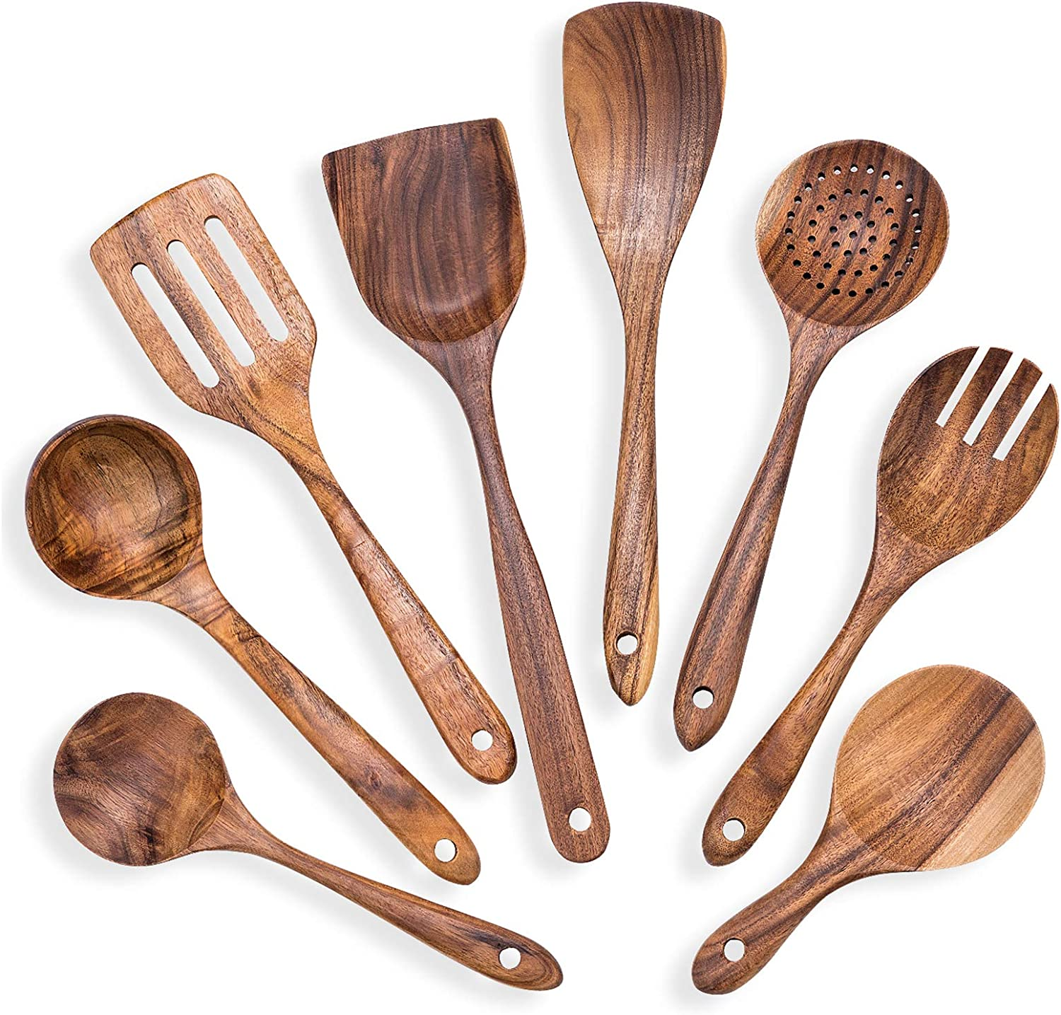 Wooden Spatula Shovel Non-stick Pan Rice Spoons Cooking Tools Cookware Gadget