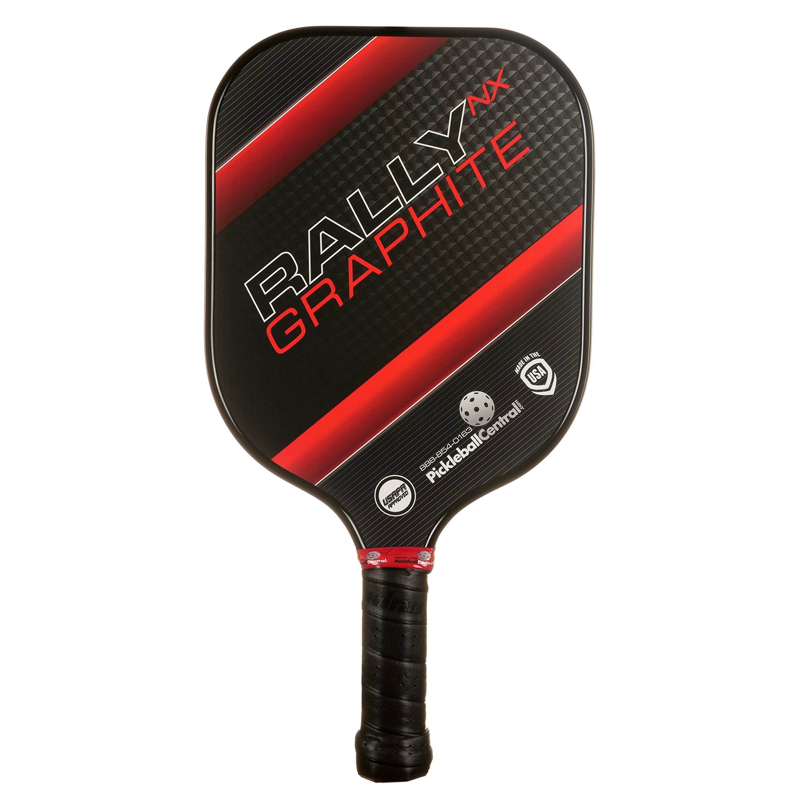 Pickleball Paddle - Rally NX Graphite Pickleball Paddle   Composite Honeycomb Core, Graphite Carbon Fiber Face   Lightweight   Pickleball Sets, Pickleballs, Paddle Covers Available   USAPA Approved by PickleballCentral