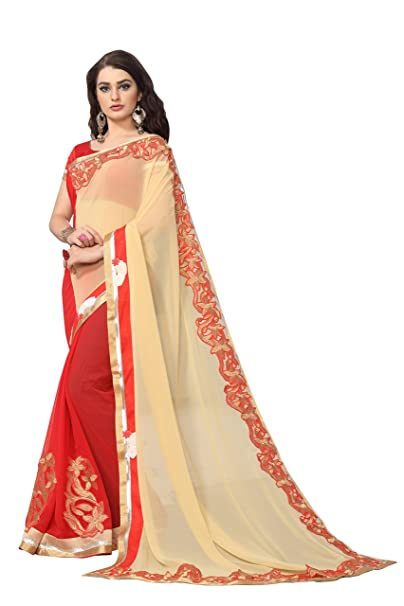 31278ca840 SARGAM FASHION Women's Georgette Saree With Blouse Piece (Gfs1623_Red):  Amazon.in: Clothing & Accessories