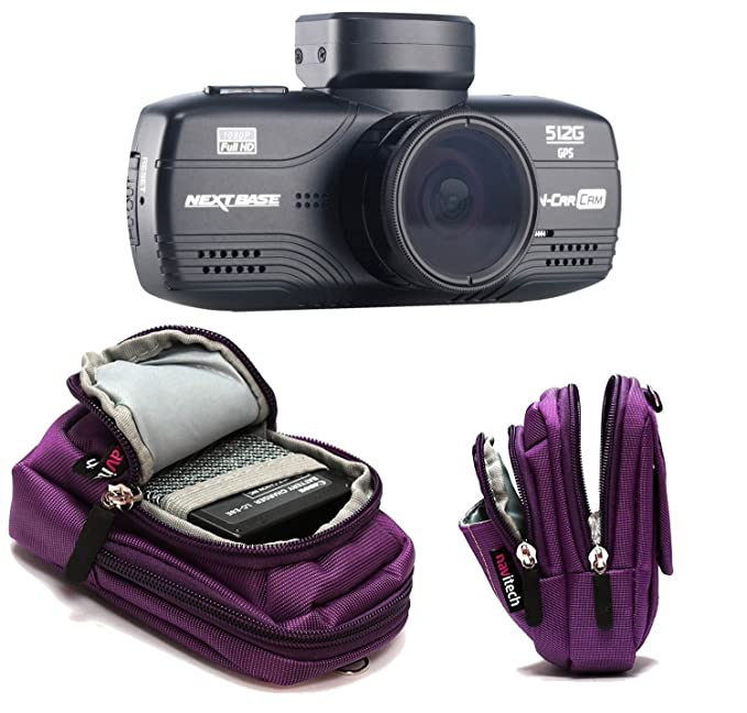 Navitech Purple Digital Camera Case Bag Cover Compatible with The/ Panasonic LUMIX DMC-FT5EG9-A Outdoor Camera