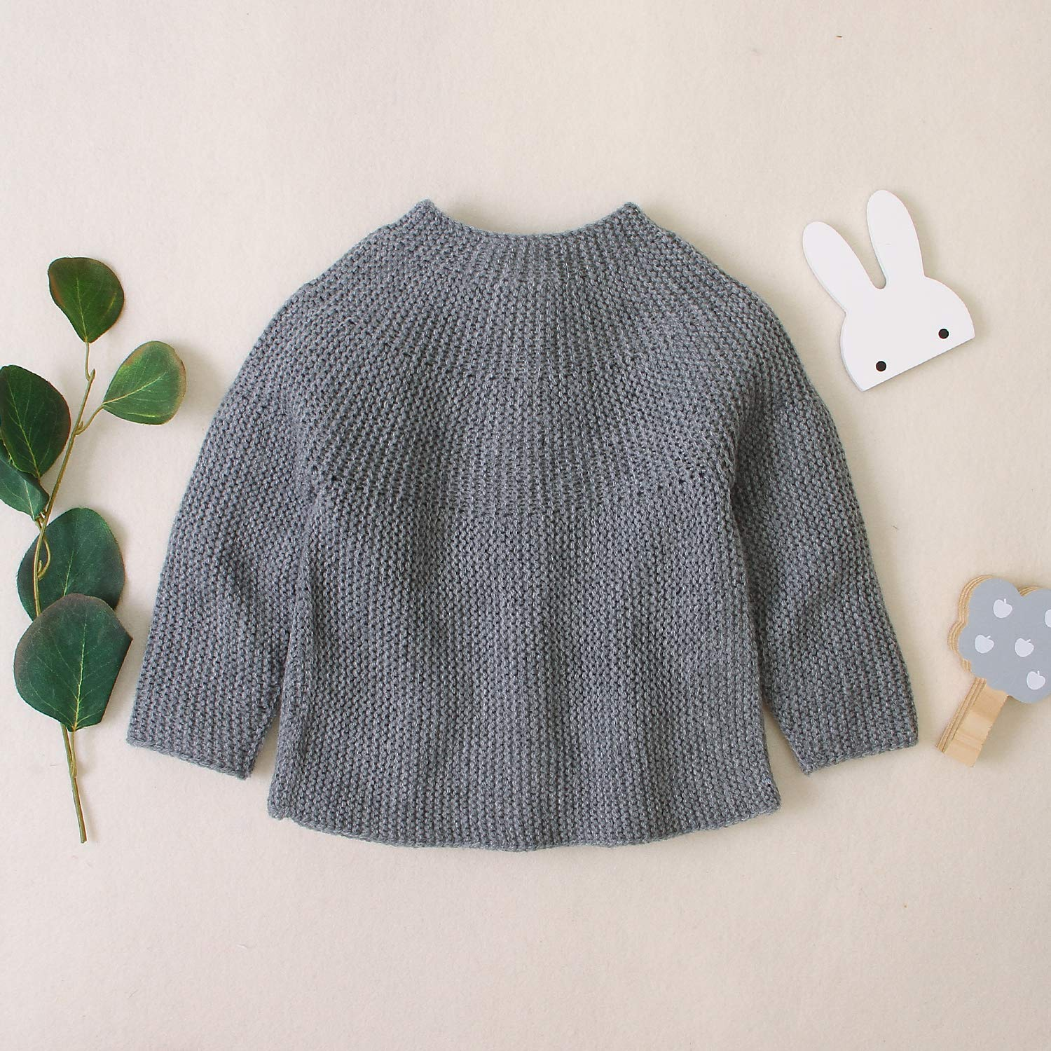 Infant Toddler Baby Girls Cardigan Sweater Long Sleeve Knitted Warm Jacket Coat Button Down Outwear Fall Winter Solid Color Knit Tops