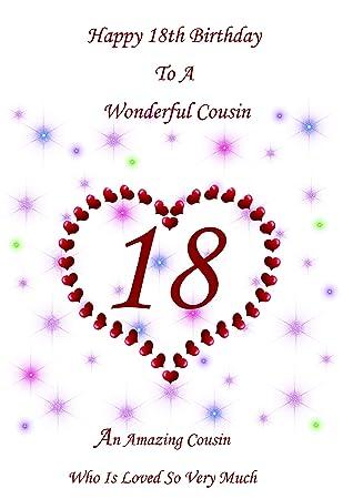 Cousin 18 Birthday Card Female