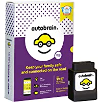 Autobrain OBD Real-Time GPS Vehicle Tracking Health Monitoring, Mechanic Helpline, 24/7 Roadside Assistance Included, 14-Day Free Trial, 9.97/Month, No Contract