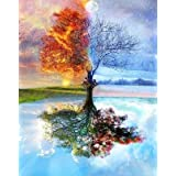 "DIY Paint by Numbers for Adults DIY Oil Painting Kit for Kids Beginner - Four Season Tree of Life 16""x20"""