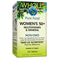 Whole Earth & Sea from Natural Factors, Women's 50+ Multivitamin & Mineral, Vegan...