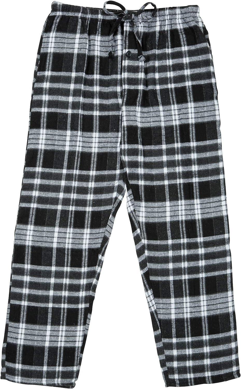 North 15 - Men's%100 Cotton Flannel, Pajama Lounge Pants