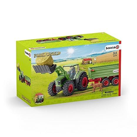 Kleinkindspielzeug Schleich Farm World Spielset Heuförderband mit BauerSpielzeug ab 3 Jahre