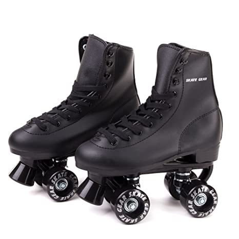 939ef96d851 Skate Gear Soft Boot Roller Skate, Retro Fashion High Top Design in Faux  Leather for