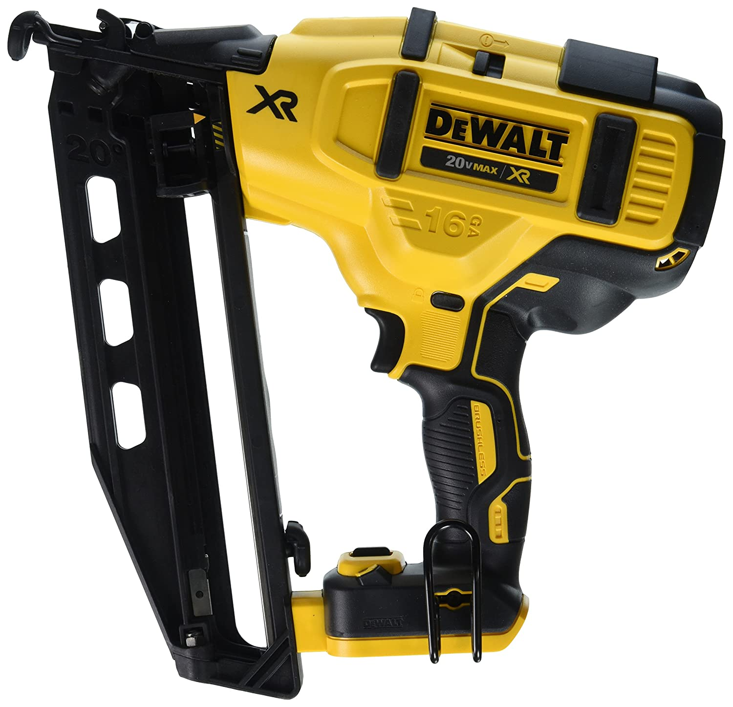 DEWALT DCN660B 20V 16 Gauge 20° Finish Nailer - - Amazon.com