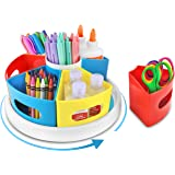 Creative Caddy - Rotating Art Supply Organizer for Kids Desk, School Craft Marker Crayon Storage, Homeschool and Classroom Or