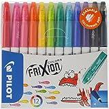 Pilot FriXion Colours 4144S12Fibre-Tip Pens, Erasable, Set of 12, 12 Stifte, assorted colours, 1