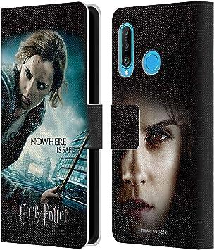 Head Case Designs sous Licence Officielle Harry Potter Hermione Granger Deathly Hallows VII Coque en Cuir à Portefeuille Compatible avec Huawei P30 ...