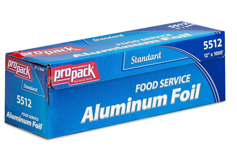 PROPACKアルミホイル食品サービス 12'' Width x 1000' Length シルバー 5512 B01FC3NNWQ  12'' Width x 1000' Length