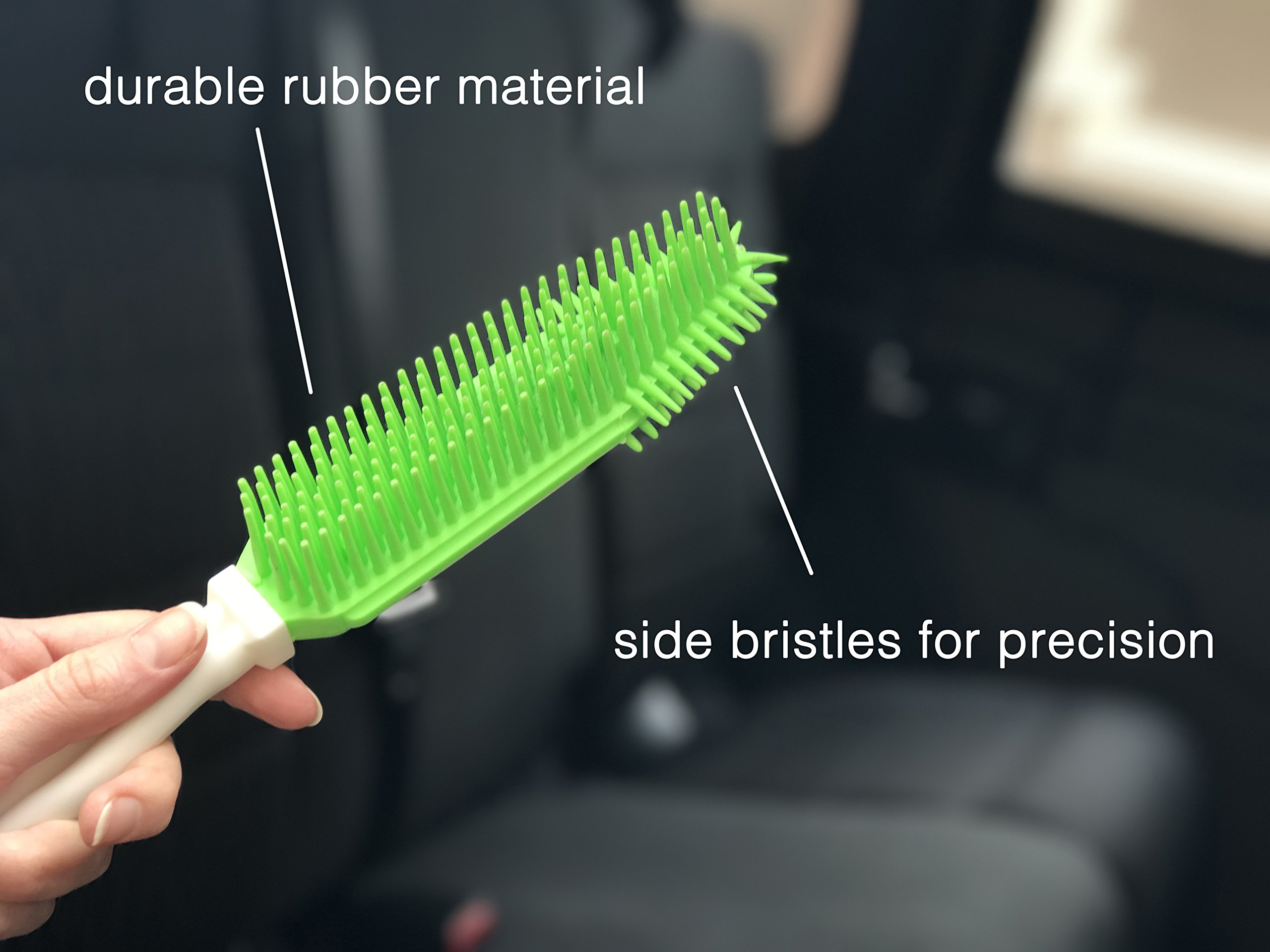 Best Car & Auto Detailing Brush for Pet Hair Removal and Car Upholstery Cleaner - Best Pet Hair Remover for Dog And Cat Hair - Great On Furniture (Bedding, Carpets, Blankets) – Use As A Lint Remover f by Dasksha (Image #1)