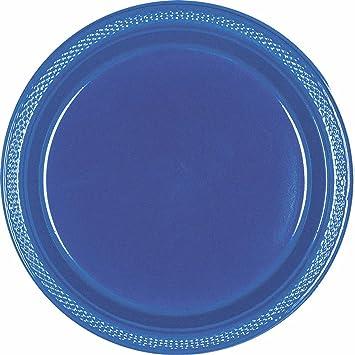9u0026quot; Navy Blue Plastic Plates ...  sc 1 st  Amazon.com & Amazon.com: 9
