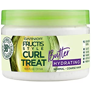 Garnier Fructis Style Curl Treat Hydrating Butter for Normal to Coarse Curly Hair, 10.5 Fl Oz