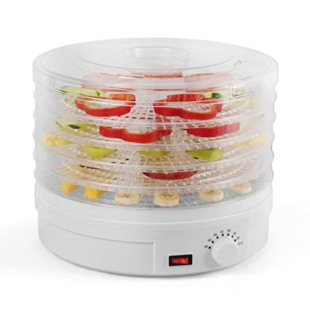 Westinghouse Food Dehydrator, Beef Jerky Maker, Food Preservation Device, Food Dehydration Machine, Dried Fruits and Vegetables Maker, Countertop Small Kitchen Appliance, WFD101W, White