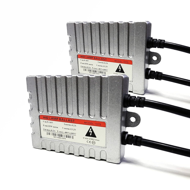 O-NEX 2x Slim 55W Digital HID Ballasts Xenon Light Kit Replacement AC 9-16V Power Transformers