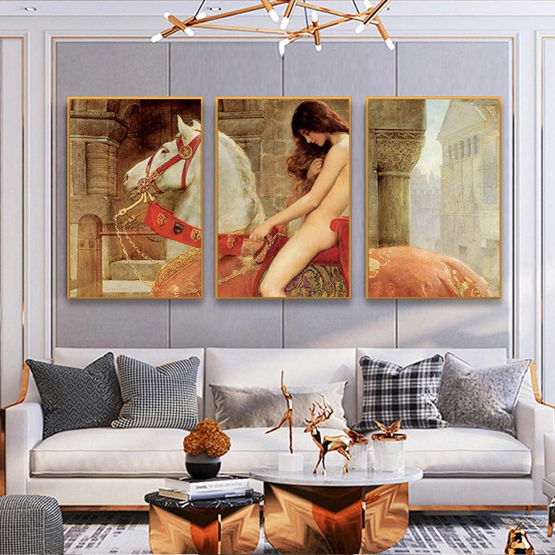 Cartel de Arte Mural Carteles de Imagen HD e Impresiones Pintura al óleo de imitación Famoso a Caballo Cuadro de Arte de Pared para la Sala de Estar Decoración del hogar Barco de Entrega