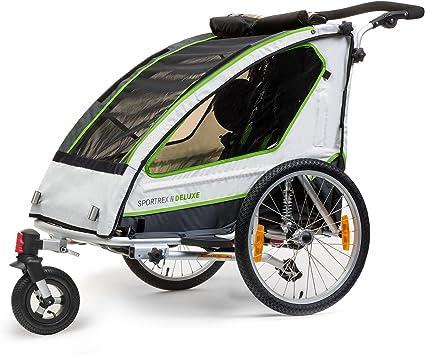 Qeridoo Sportrex 2 Deluxe - remolque de bicicleta para 2 niño, con ...