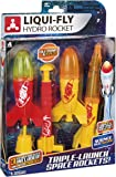 Toysmith Triple-Launch Deluxe Water Rocket Set, Endless Launches, Liqui-Fly Hydro Rockets