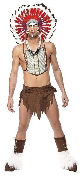 Smiffys - Disfraz de indio para hombre, talla L (36241): Amazon ...