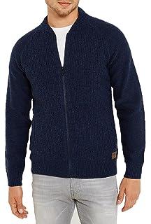 670b7c9ada72 Threadbare Mens Cardigan Jumper Knit Full Zip Baseball Jacket Top Soft  THORNBY