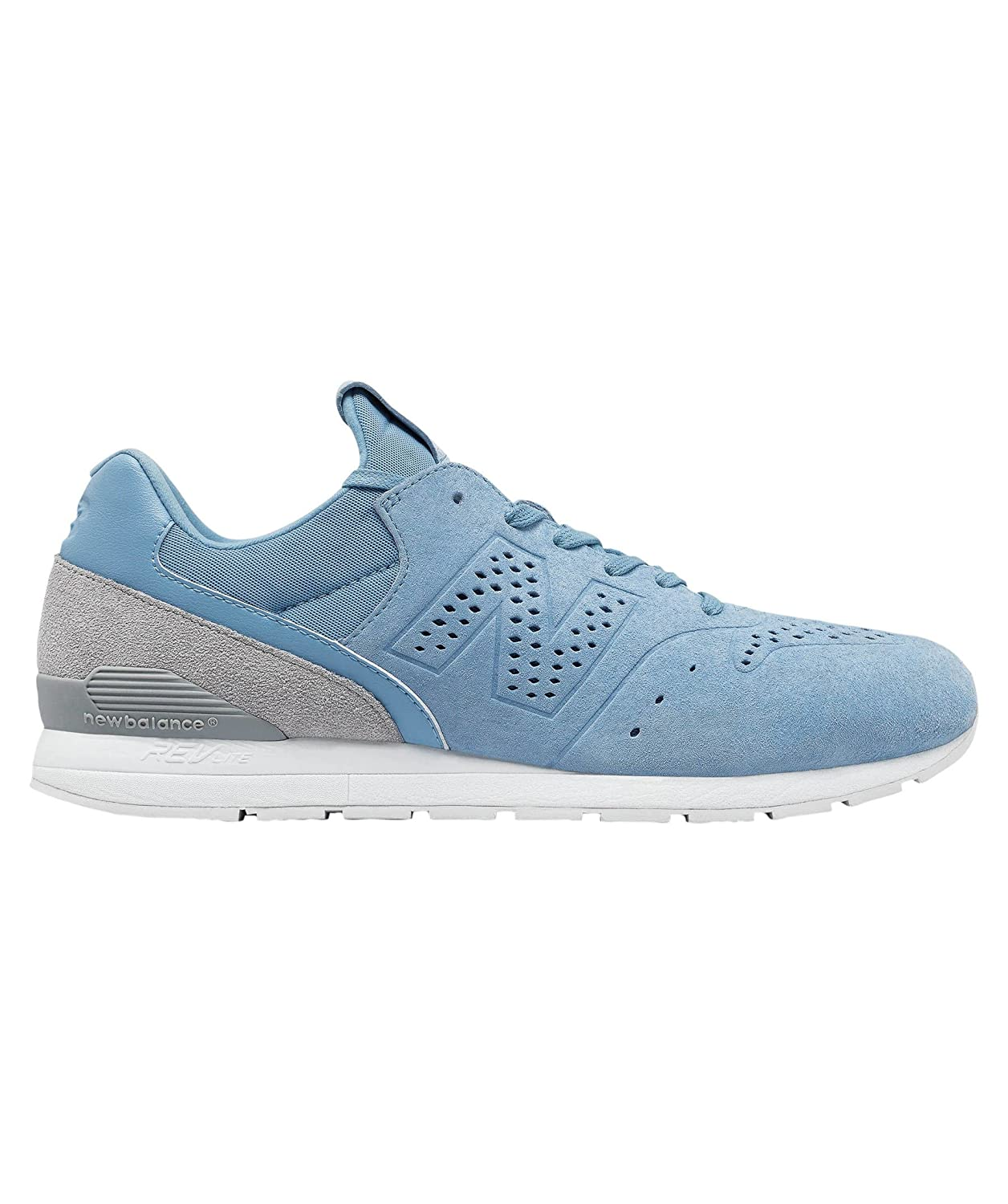 New Balance Re Engineered Pale Blue Suede Trainers