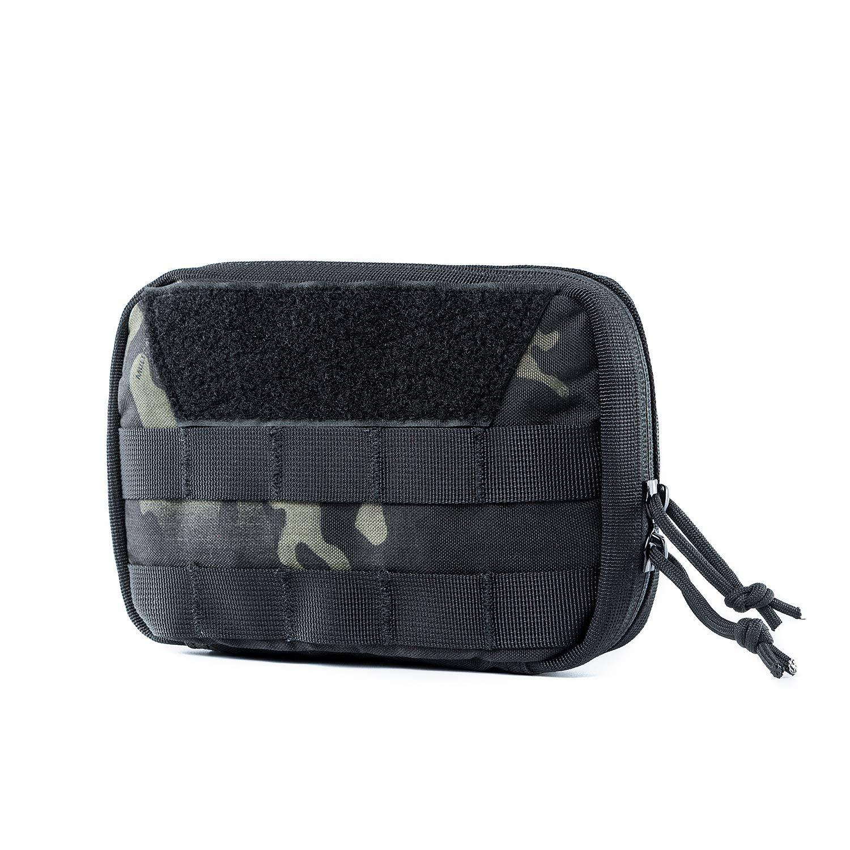 OneTigris MOLLE Admin Pouch (Multicam Black Basic Version - 7.5'' x 5'' x 2'')