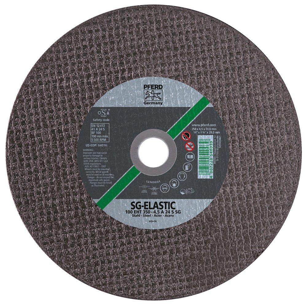 Aluminum Oxide A PFERD 64010 Large Diameter Cut-Off Wheel 20 mm Bore Size Type 1 Pack of 20 6400 Max RPM 12 Diameter x 1//8 Thick PFERD Inc. 12 Diameter x 1//8 Thick