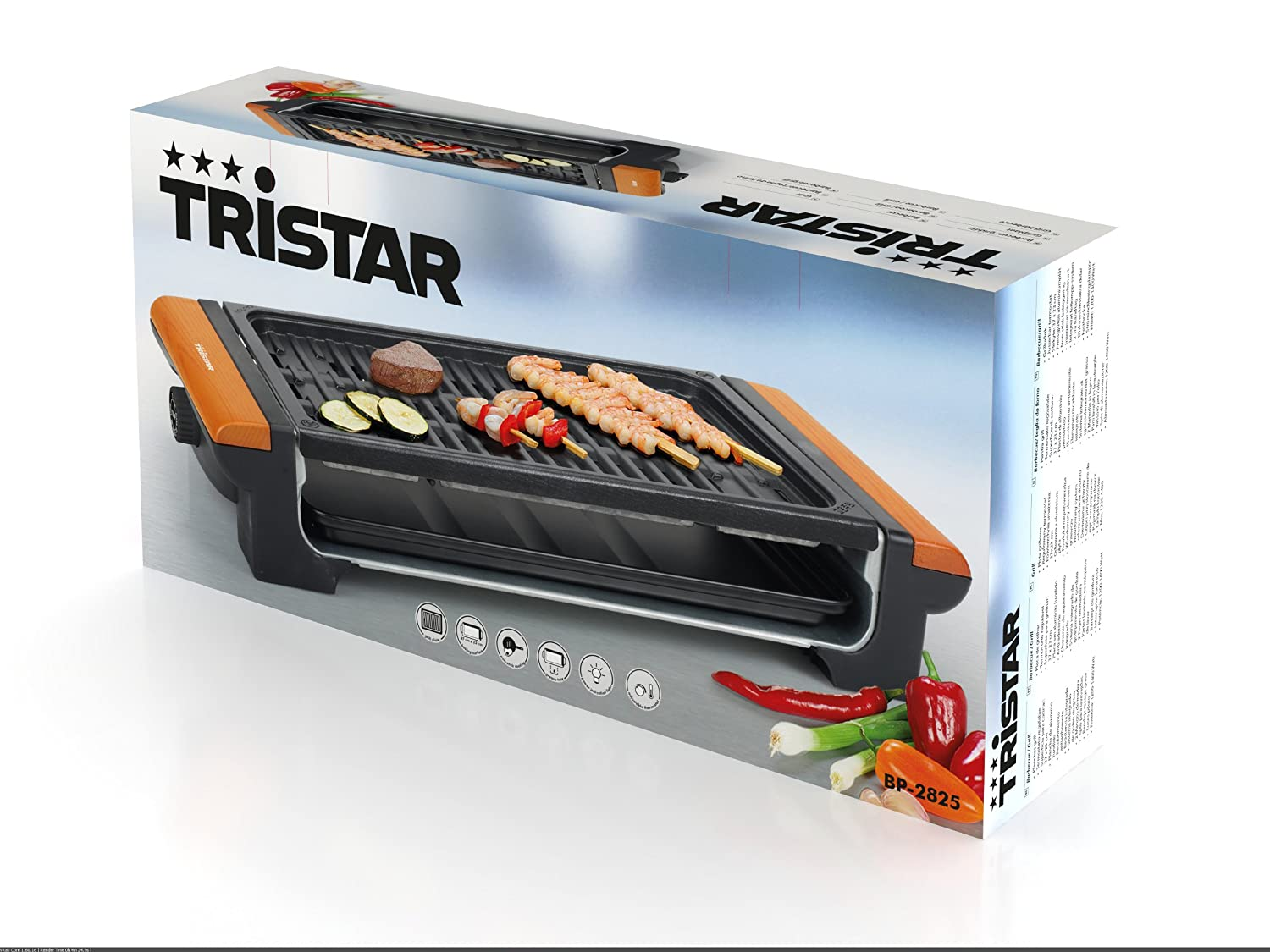 Amazon.com: SN Barbacoa Grill Tristar BP2825 Placa Aluminio Fundido: Home & Kitchen