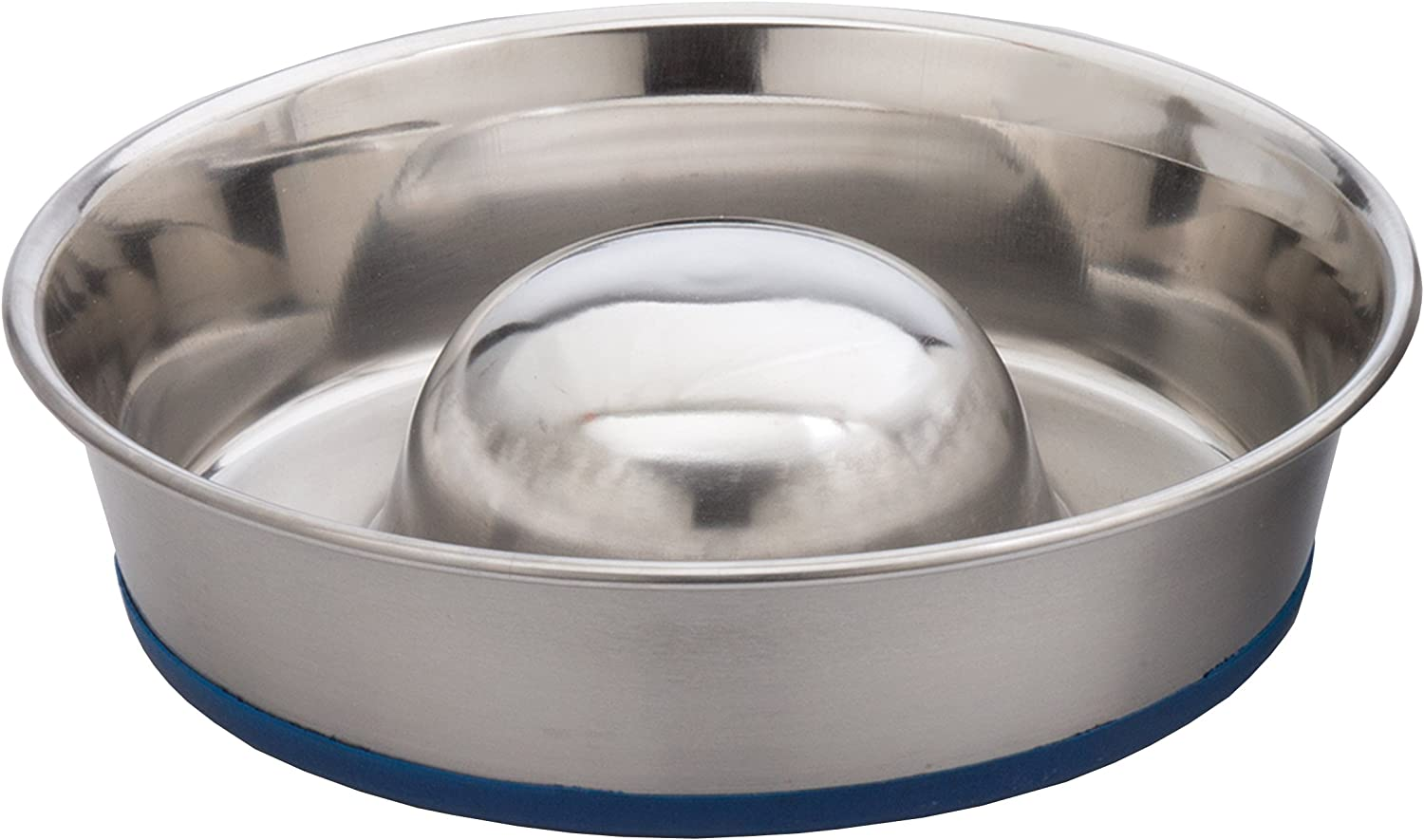 OurPets DuraPet Slow Feed Premium Stainless Steel Dog Bowl