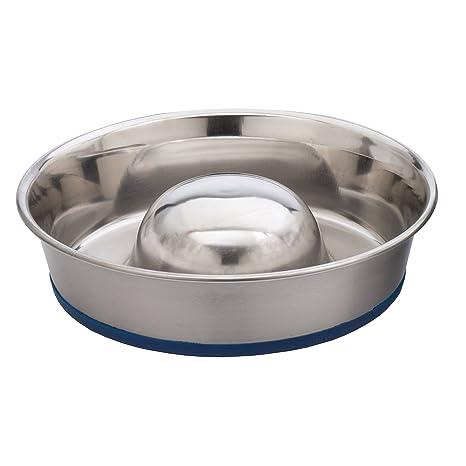 Amazon.com  Our Pets DuraPet Slow Feed Premium Stainless Steel Dog Bowl  Pet  Supplies 9008bfa33