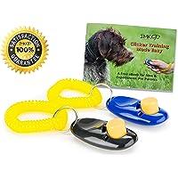 Clicker Per Cani Con E-Book Gratuito - Ideale Per l'Addestramento del Proprio Cane - Pacco Da 2 Clicker Per Cani Con Cinturino - Clicker Cane Per Addestrare Il Tuo Amico A 4 Zampe