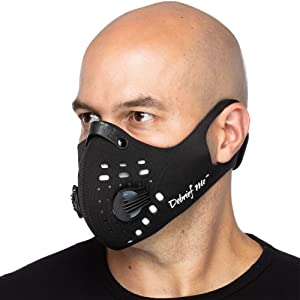 Debrief Me Dust Mask - Anti Pollution Breathable Respirator Mask (1 Mask + 6 Filters) Military Grade N99 Flu Mask Carbon Activated Filtration - Reusable Washable