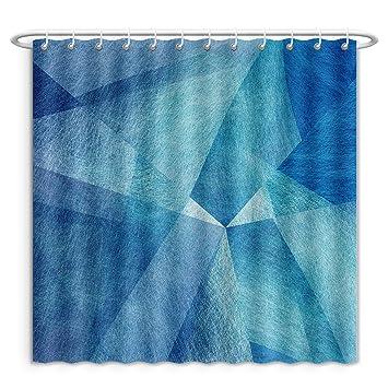 Amazon Com Unique Custom Shower Curtains Abstract Blue